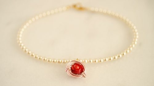 glass pearl necklace