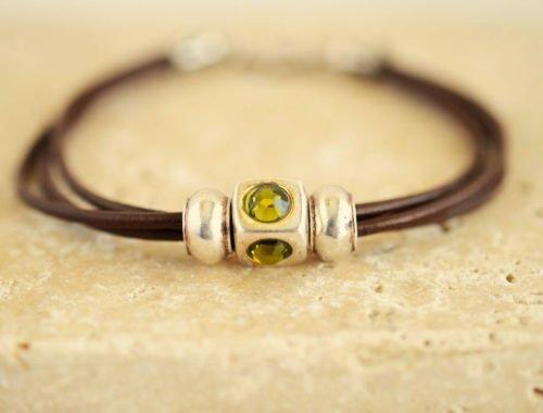 women's leather bracelet