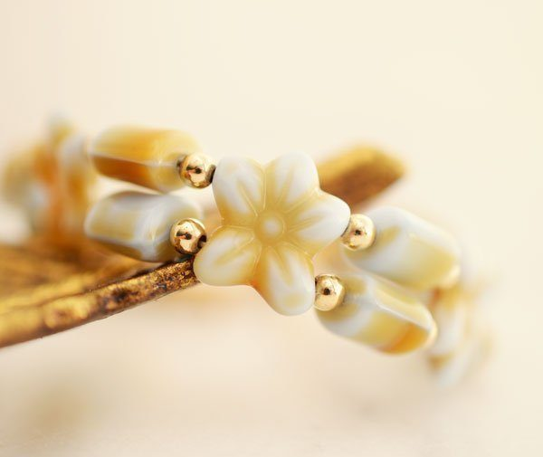 Czech Glass Flower Bracelet