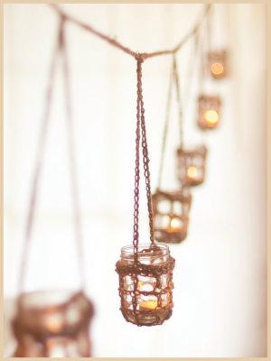 rustic mason hangers