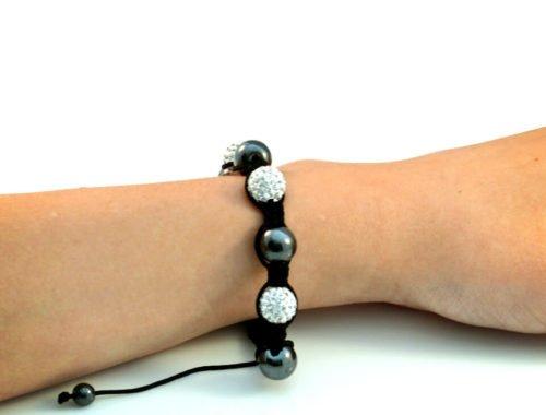 Black Shamballa Bracelet