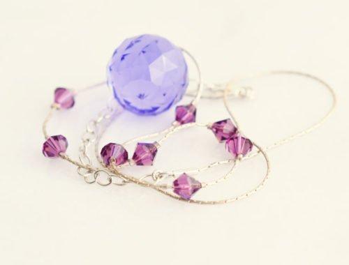 Purple Statement Necklace