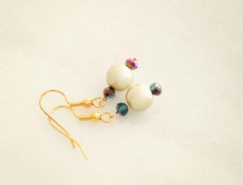pearl dangle earrings