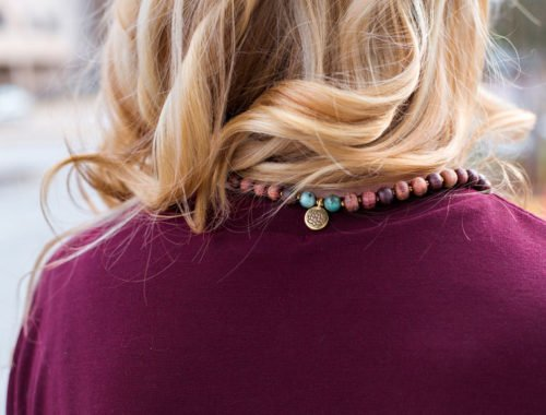 rosewood mala necklace