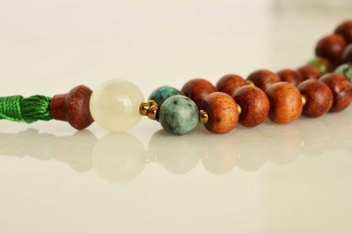 rosewood mala necklace
