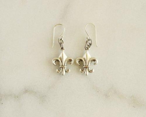 f;leur de lis earrings