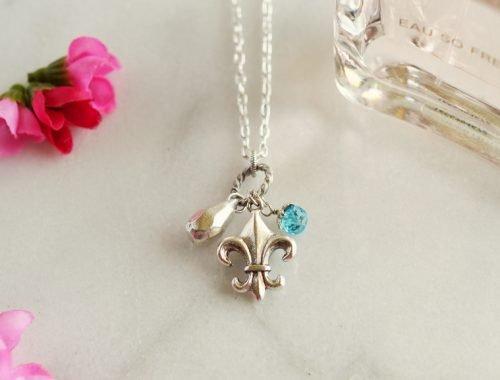 Fleur de Lis Charm Necklace