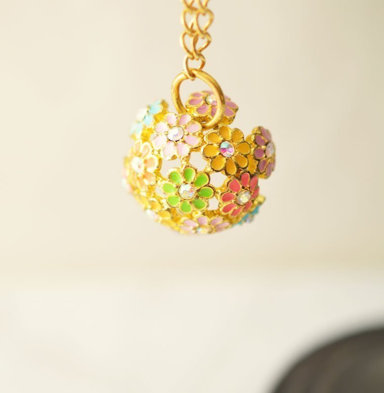 Sold out simple gold necklace with flower pendant gold chain simple gold necklace aloadofball Choice Image