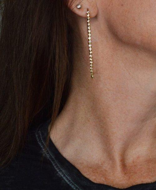 luxury style ear hoops crystal rhinestones
